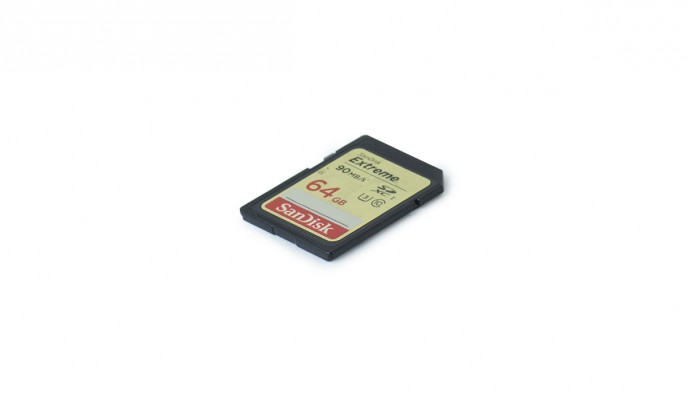 SD Card 64GB // 90MB/s // SDXC-I C10 U3