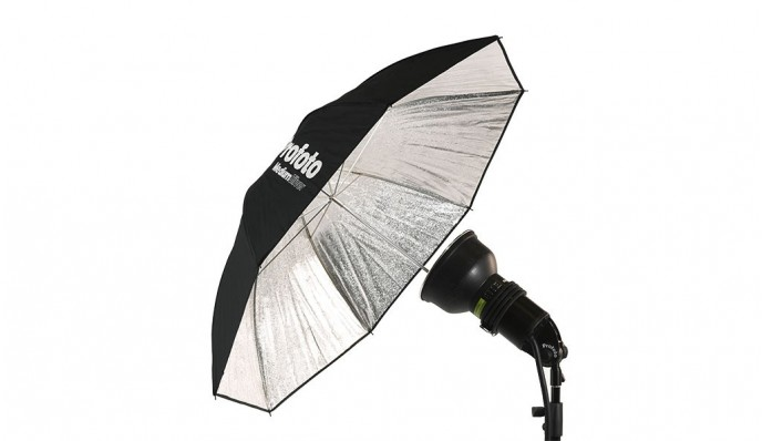 Silver Umbrella (medium: 105cm)