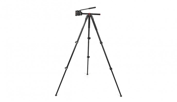 Video Tripod 701HDV + Manfrotto 190 // Cenital