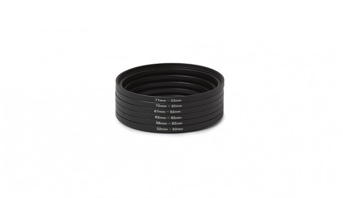 82mm Step Up Ring Kit (52mm to 82mm)