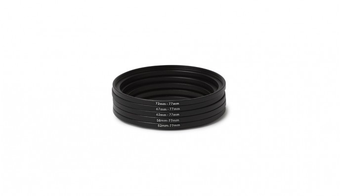 77mm Step Up Ring Kit (52mm to 77mm)